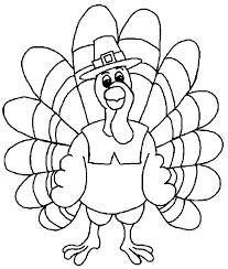 happy thanksgiving turkey coloring pages clipart library free