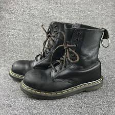 womens steel toe boots size 12 womens size 6 dr martens black leather steel toe boots ebay