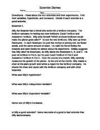 good experimental design scientist stories experimental design reading activity tpt