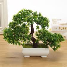 plante bureau 18cm artificielle chinois bonsaï arbre plante pot table décoration