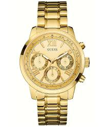 guess stainless steel bracelet images Guess women 39 s gold tone stainless steel bracelet watch 42mm tif