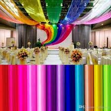 27 colors ribbon roll organza tulle yarn chair covers accessories