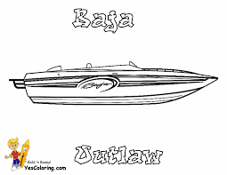 Pleasure Power Boat Coloring Book Sheet Yescoloring Http Www