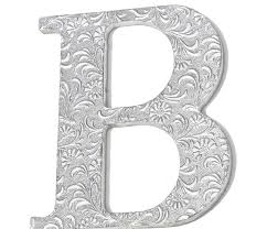 letters for home decor wall hanging letter b embossed initials silver chic decor