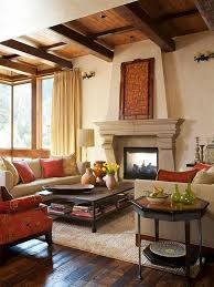 Tuscan Style Living Room Tuscan Living Room With Open Fireplace And Wall Decor Over Mantel
