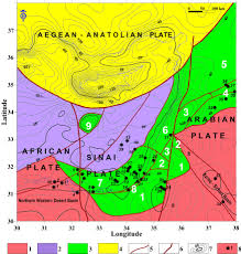Negev Desert Map Tectonic Geophysical Mapping Of Israel And The Eastern