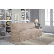 serta twill t cushion sofa slipcover u0026 reviews wayfair