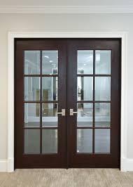 Prehung Wood Interior Doors by Interior Door Custom Double Solid Wood With Dark Mahogany