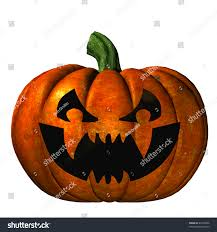 halloween pumpkin jack olantern carved scary stock illustration