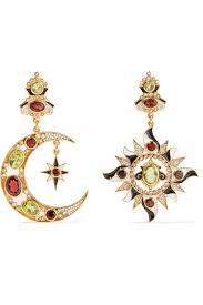 percossi papi earrings percossi papi gold plated multi earrings net a porter
