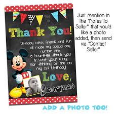mickey mouse thank you cards mickey mouse thank you card mickey mouse by agmprintabledesigns