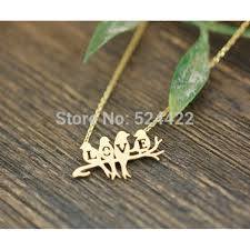 silver bird pendant necklace images Birds spell l o v e necklace in gold or silver bird jewelry jpeg
