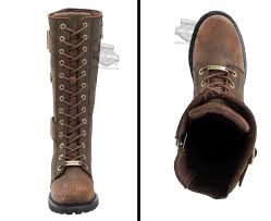 martino of canada s boots 87083 harley davidson womens belhaven brown leather high cut