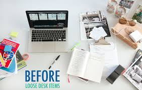 Organize A Desk Organize Your Desk The Chic Site