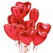 valentines ballons hearts s day heart shape helium foil balloons