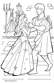 coloriages de la belle au bois dormant de walt disney le prince