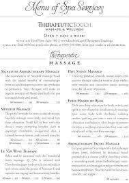 Spa Therapist Resume Natural Day Spa U0026 Massage Tri Fold Brochure Template Http Www