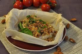 cuisiner dos de cabillaud recette dos de cabillaud en croûte d amande et basilic