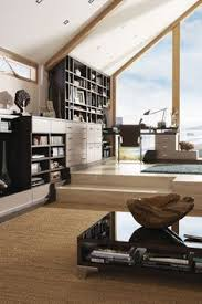 Contemporary Lounge With Curves Fitted Lounges And Libraries - Contemporary fitted living room furniture