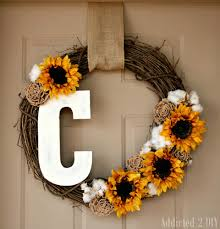 fall monogram wreath addicted 2 diy