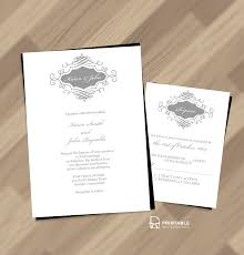 Marriage Invitation Card Templates Free Download Beautiful Wedding Monogram Free Invitation And Rsvp Wedding