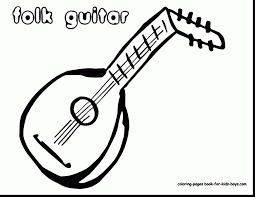 fantastic acoustic guitar sketches with guitar coloring pages