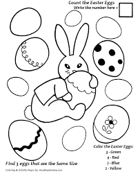 easter egg coloring pages color and count coloring sheet