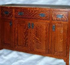custom made solid oak mission style vanity by chesapeake cabinet