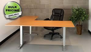 Height Adjustable Standing Desk by Standing Desk Electric L Shape Height Adjustable Office Desk