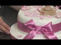 how to make a cake bow youtube