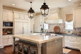 Kitchen With Brick Backsplash Houston Backless Bar Stools Kitchen Traditional With Red Brick