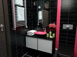 pink and black bathroom ideas black and pink bathroom shower curtain and pink black and