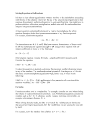 Addition And Subtraction Algebra Worksheets One Variable Equations