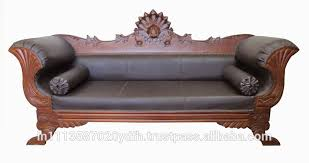 Leather And Wood Sofa Wooden Sofa Wooden Sofa Suppliers And Manufacturers At Alibaba