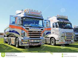 volvo freight trucks scania and volvo show trucks editorial photography image 42089407