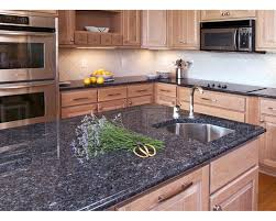 Granite Kitchen Countertops by The Marble Touch Volga Blue Granite