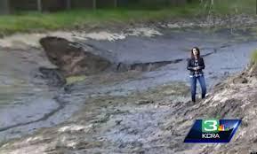 Sinkhole In Backyard Newcastle California Sinkhole Drains Mark Korb U0027s Backyard Pond