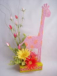 Centerpieces For Baby Shower by Baby Shower Table Centerpieces Giraffe Daisy Centerpiece1