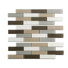 Aspect Subway Matted  In X  In Glass Decorative Tile - Glass peel and stick backsplash