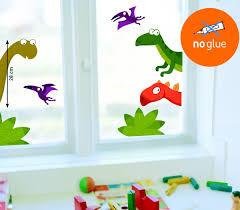 fensterfolie kinderzimmer fenster sticker dinosaurier fensterbilder statisch haftend