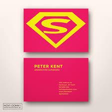 business card template designs superhero logo nova donna
