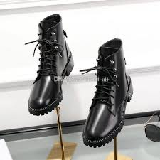 womens combat boots uk black lace up leather boots flat heel fall winter 2018