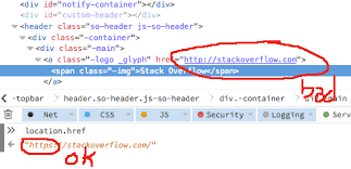 Top Bar Top Bar Home Icon Redirects Me To Http Site Meta Stack Overflow