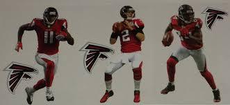 Atlanta Falcons Home Decor by Amazon Com Atlanta Falcons Mini Fathead Team Set Of 6 Official