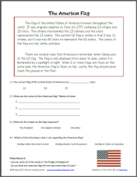 reading comprehension the american flag mamas learning corner