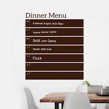 kitchen wall sticker write and erase weekly menu wall sticker