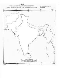 India Blank Map by Upsc Ias Preparation Online Ias Upsc Exam Preparation Online Tips