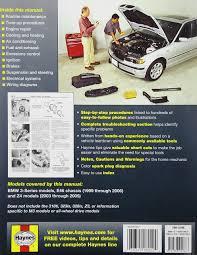 bmw 3 series automotive repair manual 99 05 haynes automotive