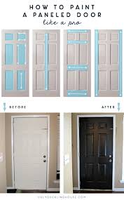 How To Paint An Interior Door by How To Paint A Paneled Door U2013 The Ugly Duckling House