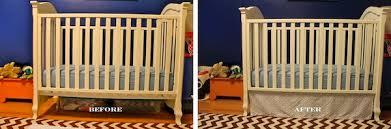 Crib Bed Skirt Diy Diy No Sew Crib Skirt The Finale Shoes